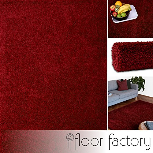 hochflor shaggy teppich colors rot bordeaux 120x170cm pflegeleichter und g nstiger. Black Bedroom Furniture Sets. Home Design Ideas