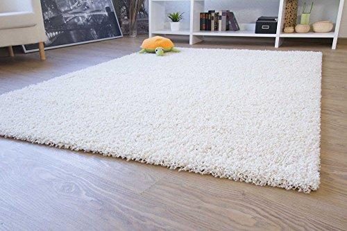shaggy hochflor teppich happy langflor teppich in creme beige mit ko tex siegel gr e. Black Bedroom Furniture Sets. Home Design Ideas