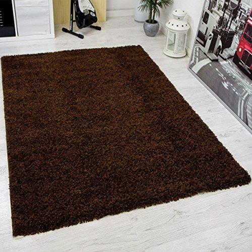 Shaggy Teppich Hochflor Langflor Teppiche Wohnzimmer: Prime Shaggy Teppich Farbe Braun Hochflor Langflor