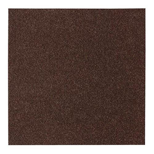Filzfliese selbstklebend set 4 m 6 farben teppichfliese teppichboden braun online shop - Teppichfliesen selbstklebend verlegen ...