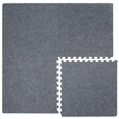 4 teppichfliesen mit 8 abschlussleisten erweiterbare steckmatten puzzlematten bodenauflagen. Black Bedroom Furniture Sets. Home Design Ideas